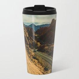 driving through fire Travel Mug