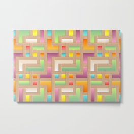 Abstract Colorful Labyrinth Metal Print