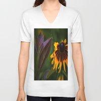 burgundy V-neck T-shirts featuring Burgundy BFFS! by gymmybob