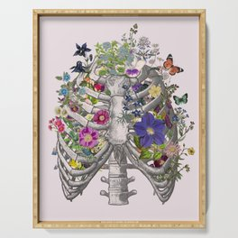 Ribs and flowers Serving Tray
