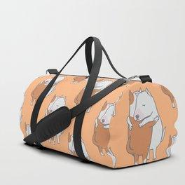 Bull Terrier Hugs Duffle Bag