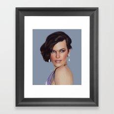 Milla Jovovich Framed Art Print
