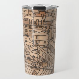 scribbled city Travel Mug