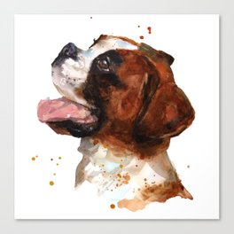 Boxer Joy Canvas Print