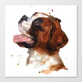 Boxer Joy Canvas Print