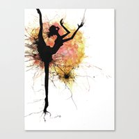 dancer Canvas Prints featuring dancer by liva cabule