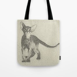 Abyssinian kitten dotted art Tote Bag