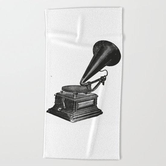 Gramophone 2 Beach Towel