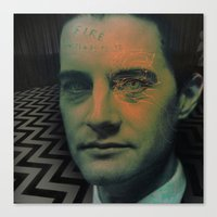 dale cooper Canvas Prints featuring Special Agent Dale Cooper by András Récze