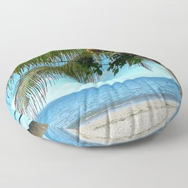 Far and Beyond. Beach Photography. Summer Floor Pillow