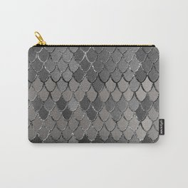 Mermaid Scales Silver Gray Glam #1 #shiny #decor #art #society6 Carry-All Pouch