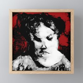 The Victorian Maid and Her Dark Secret Framed Mini Art Print