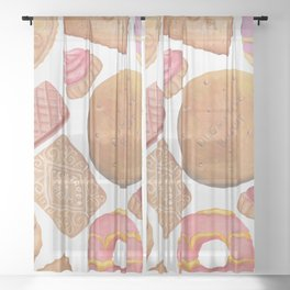Biscuit Selection Sheer Curtain