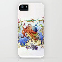 Octopus Wench iPhone Case