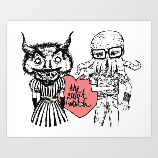 the perfect match Art Print
