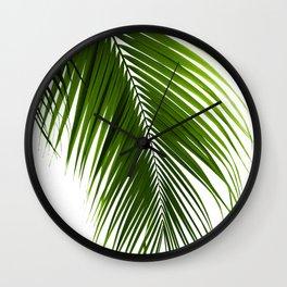 Palm Leaves Green Vibes #10 #tropical #decor #art #society6 Wall Clock