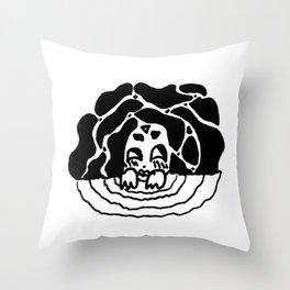 water spirit (bw) Throw Pillow