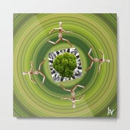 Umweltschutz ist kein Selbstläufer / Kunsthaus-Lay Metal Print