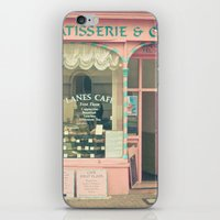 cafe iPhone & iPod Skins featuring Sweet Cafe by Cassia Beck