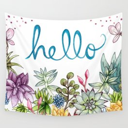 hello spring Wall Tapestry
