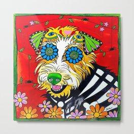 Dottie the Adorable Sugar Skull Terrier Metal Print