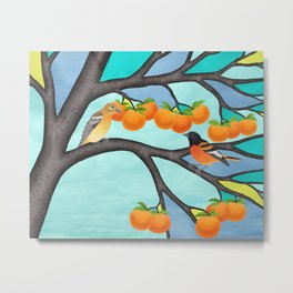 B. orioles in the stained glass tree Metal Print