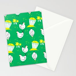 On the Farm Chicken Pattern Stationery Cards