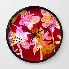 Red Paradise Delight Wall Clock