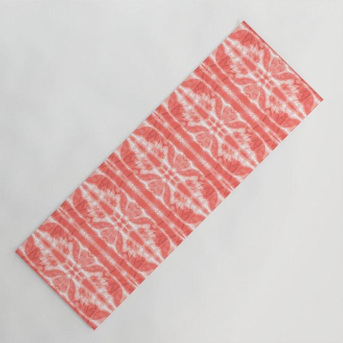 Tie Dye Twos Corals Yoga Mat