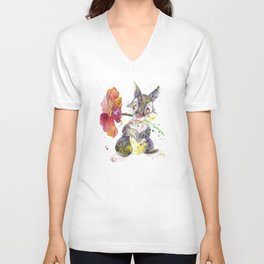 Thumper With Flower Unisex V-Neck