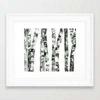 birch Framed Art Prints featuring Birch    by kristinesarleyart