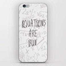 Equations Are Fun iPhone & iPod Skin