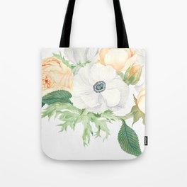 David Austin Roses and Anemones Tote Bag