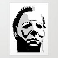 michael myers Art Prints featuring MICHAEL MYERS by Genedela