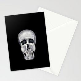 Black White & Skull Stationery Cards