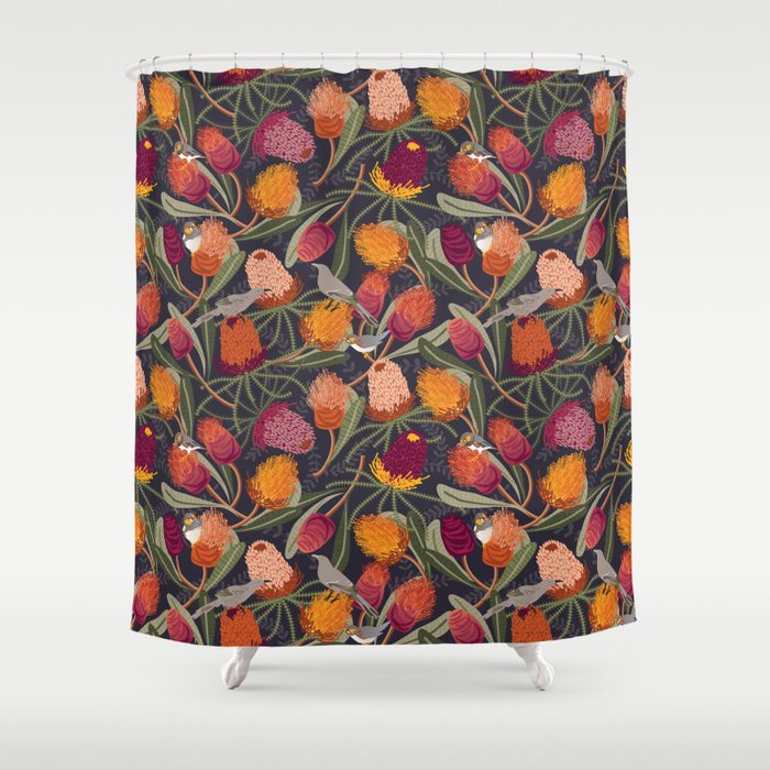 Australian Banksia Shower Curtain