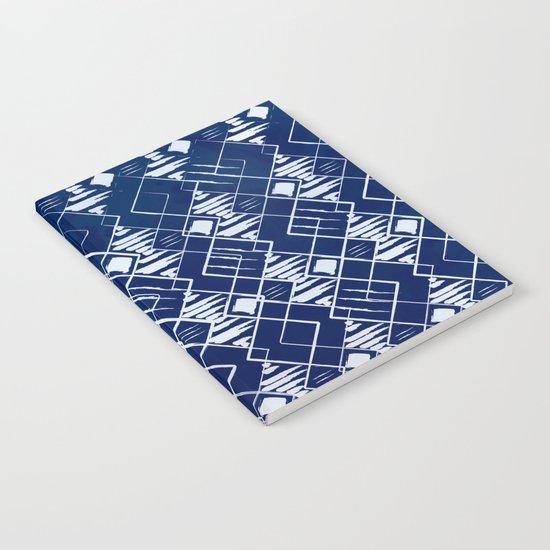 Blue Summer Pattern Notebook