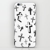 cross iPhone & iPod Skins featuring CROSS by Ellie Cryer