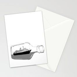 ship in a bottle . Artwork (  https://society6.com/vickonskey/collection ) Stationery Cards