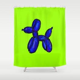 Doggy - blue & green Shower Curtain