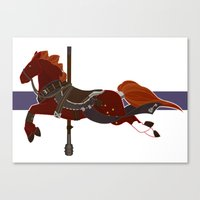 nori Canvas Prints featuring Nori by MarieJacquelyn