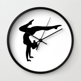 B&W Contortionist Wall Clock