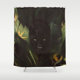 Hello Panther! Shower Curtain