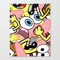 spongebob Canvas Prints featuring Spongebob by Startled Artist