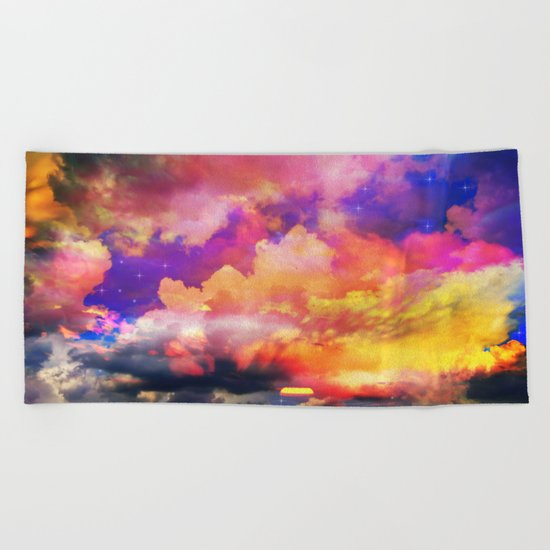 lollipop sunset Beach Towel