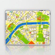 Paris map design Laptop & iPad Skin