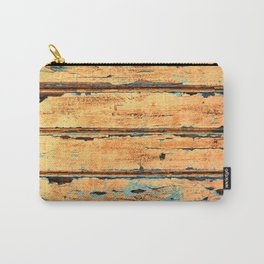 Orange Planks, Wood Texture Decor Carry-All Pouch