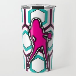 Girls Basketball Team Sports Design Pattern Travel Mug