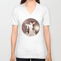 rapunzel V-neck T-shirts featuring Rapunzel by Jenny Lloyd Illustration