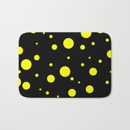 Yellow Bubbles Bath Mat